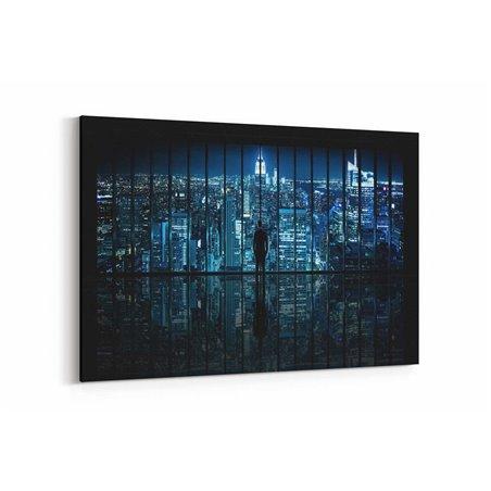 Gece Şehir Görünümü Kanvas Tablo