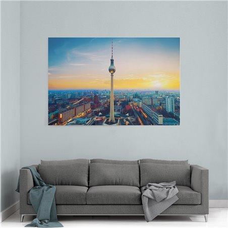 Fernsehturm Berlin Kanvas Tablo