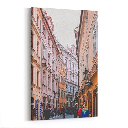 Prag Sokakları Kanvas Tablo