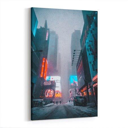 New York'ta Kar Kanvas Tablo