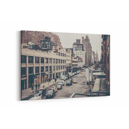 Sonbahar'da New York Caddesi Kanvas Tablo