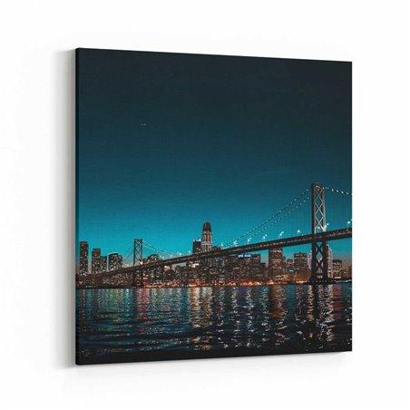 San Francisco Gece Kanvas Tablo