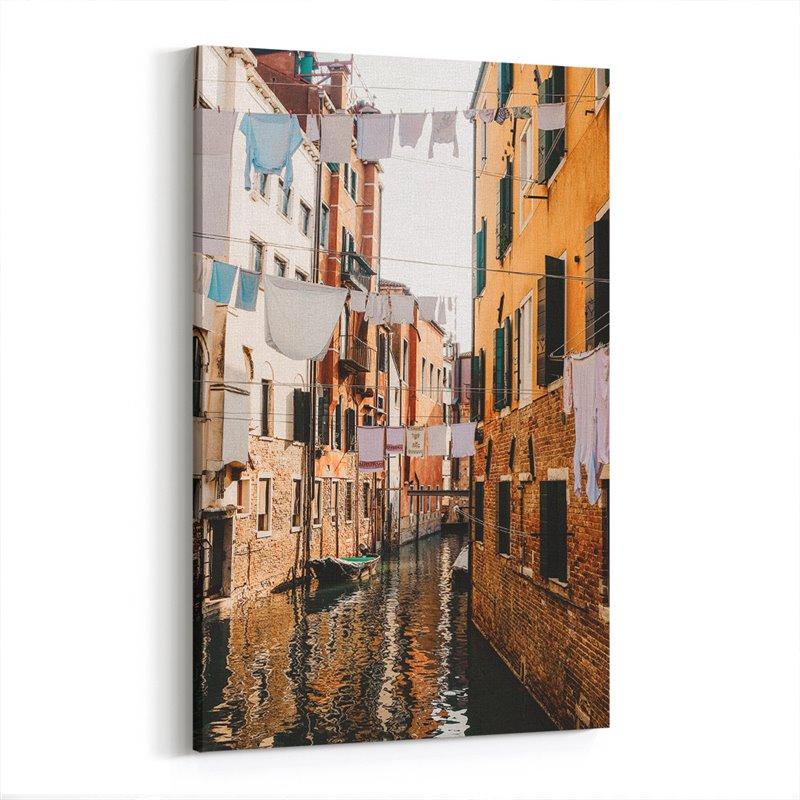 Venedik Kanal Sokakları Kanvas Tablo