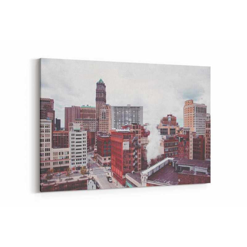 Downtown Detroit Kanvas Tablo