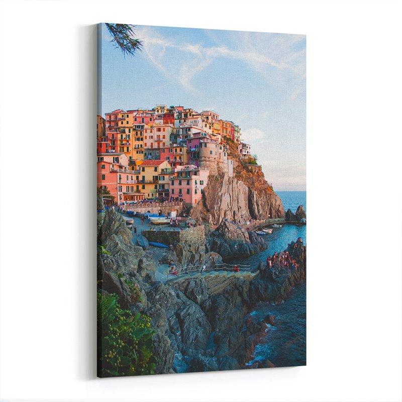 Cinque Terre İtalya Kanvas Tablo