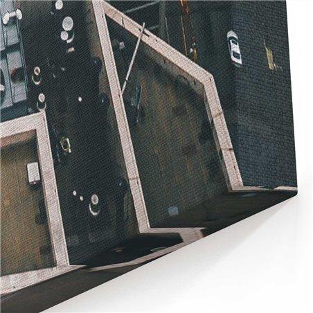 Şikago ve binalar Kanvas Tablo