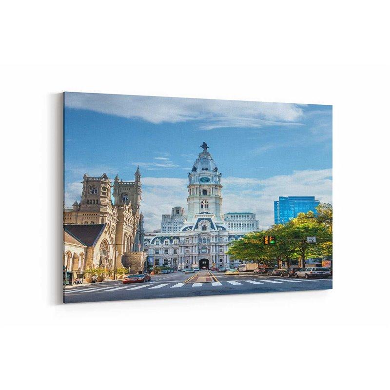 Philadelphia Şehir Merkezi Kanvas Tablo
