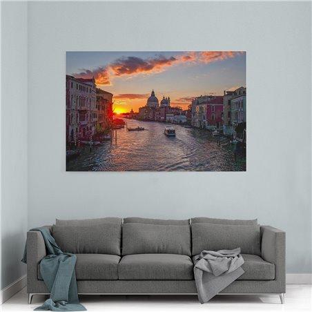 The Grand Canal Venedik Kanvas Tablo