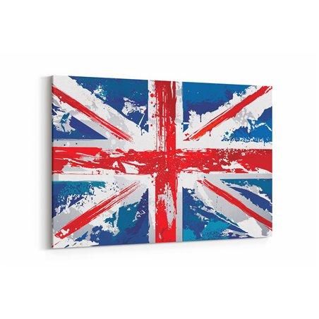 İngiltere Bayrağı Çocuk Odas Kanvas Tablosu