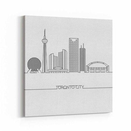 Toronto Çizim Kanvas Tablo