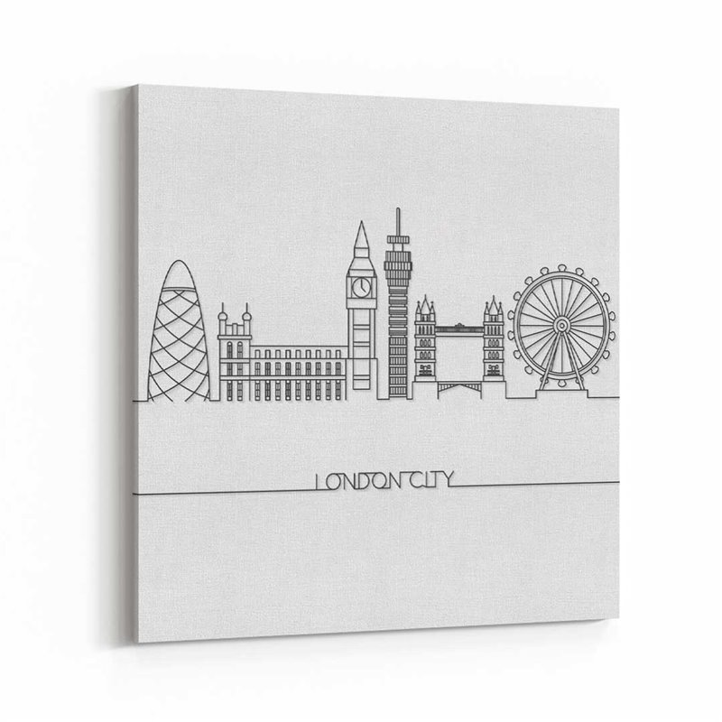 Londra Çizim Kanvas Tablo