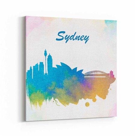 Sidney Sulu boya Çizim Kanvas Tablo