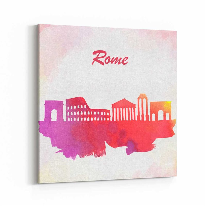 Roma Sulu boya Çizim Kanvas Tablo