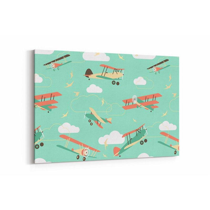 Uçaklar Çocuk Odası Kanvas Tablosu