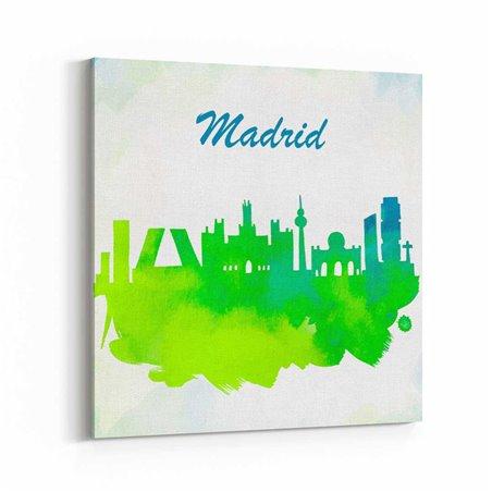 Madrid Sulu boya Çizim  Kanvas Tablo