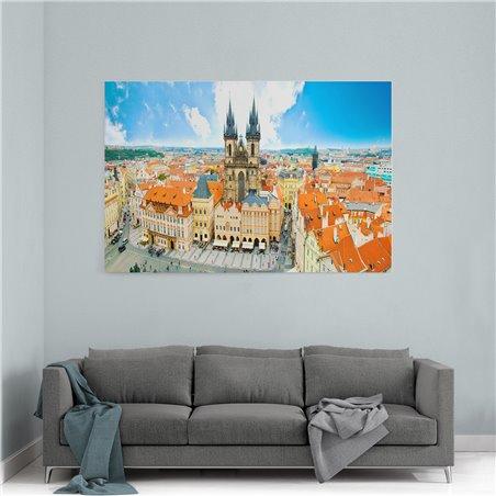 Eski Kent Meydanı Çek Cumhuriyeti Kanvas Tablo