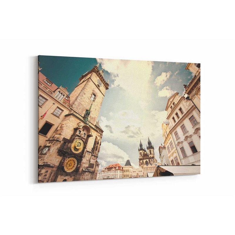 Prag Eski Şehir Meydanı Kanvas Tablo