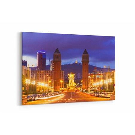 Plaza da Espana Barcelona Kanvas Tablo