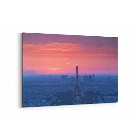 Günbatımı Paris Fransa Kanvas Tablo