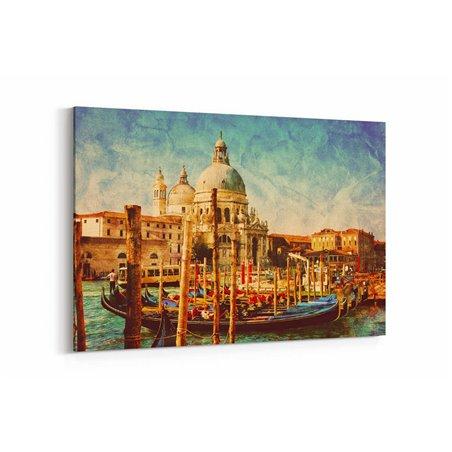 Venedik Retro Kanvas Tablo