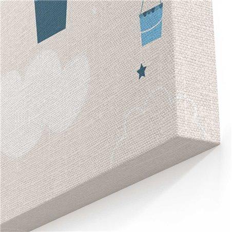 Tavşan ve Balon Çocuk Odası  Kanvas Tablosu