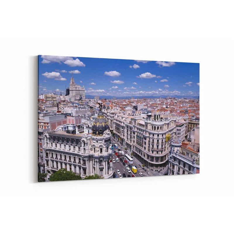 Gran Vía, Madrid Kanvas Tablo
