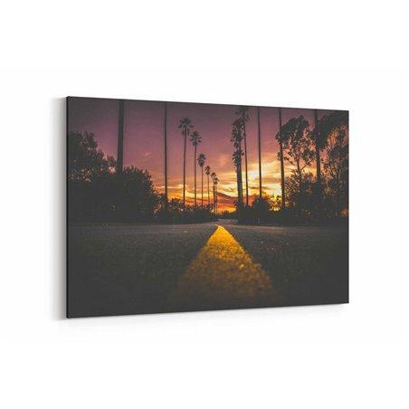 California Günbatımı Kanvas Tablo