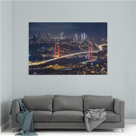 The Bosphorus Bridge Kanvas Tablo