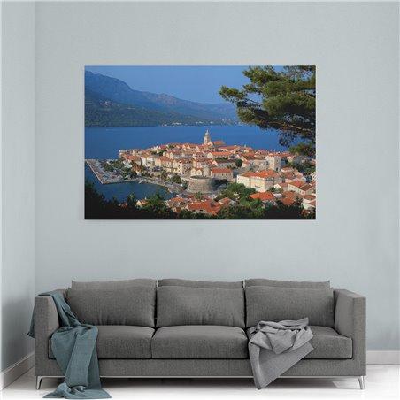 Hırvatistan Kıyısı Kanvas Tablo