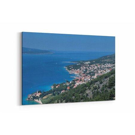 Hırvatistan Kuşbakışı Kanvas Tablo