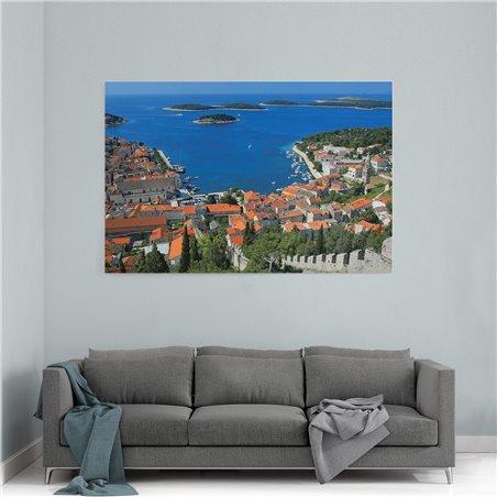 Hırvatistan Marina Kanvas Tablo