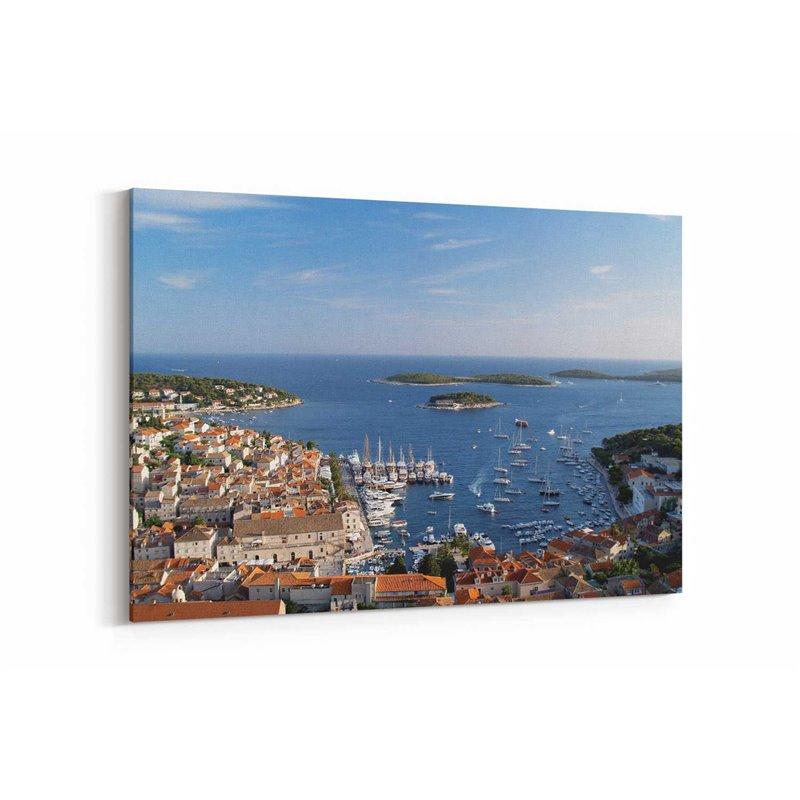 Hırvatistan Adaları Kanvas Tablo