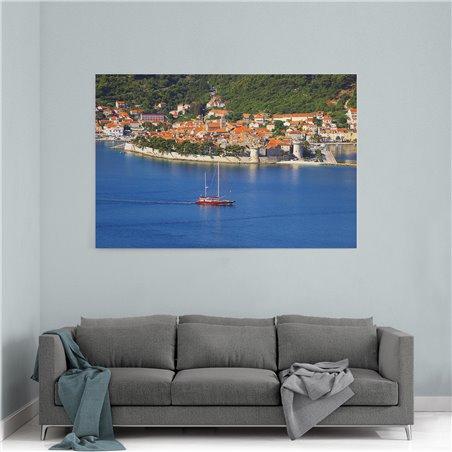 Hırvatistan Denizi Kanvas Tablo