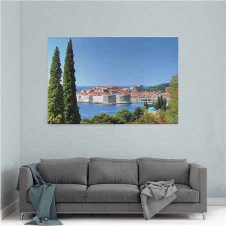Hırvatistan Dubrovnik Ormanı Kanvas Tablo