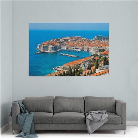 Dubrovnik Kuşbakışı Kanvas Tablo