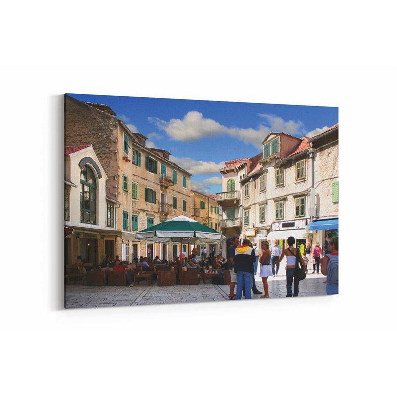 Dubrovnik Çarşısı Kanvas Tablo