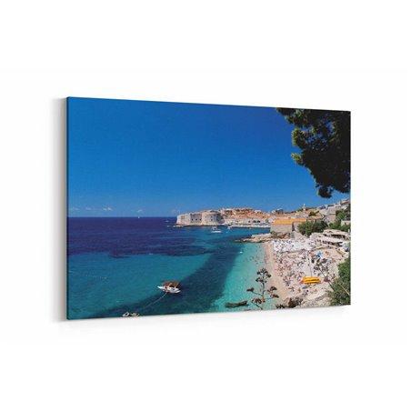 Dubrovnik Plajı Kanvas Tablo