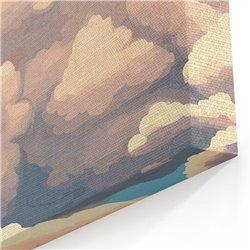 Bulutlar ve Gökyüzü Çocuk Odası Kanvas Tablosu