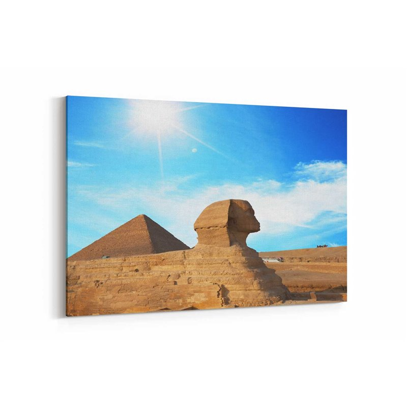 Mısır Sfenks Kedisi Kanvas Tablo