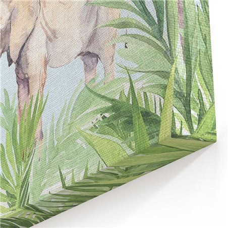 Hayvanlar Sulu Boya Kanvas Tablosu