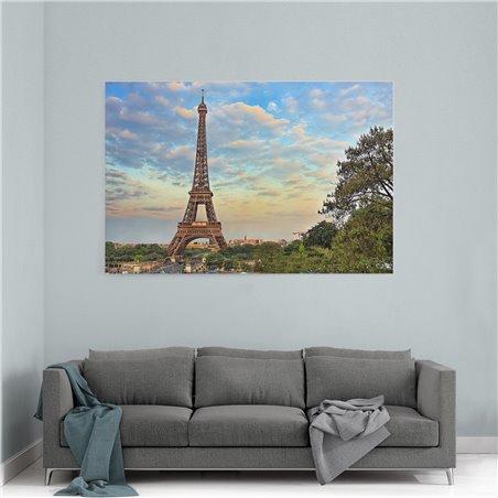Eyfel Kulesi Paris Kanvas Tablo