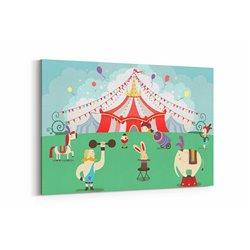 Sirk Çocuk Odası Kanvas Tablosu