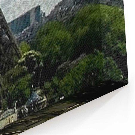 Eyfel Kulesi Çevresi Kanvas Tablo