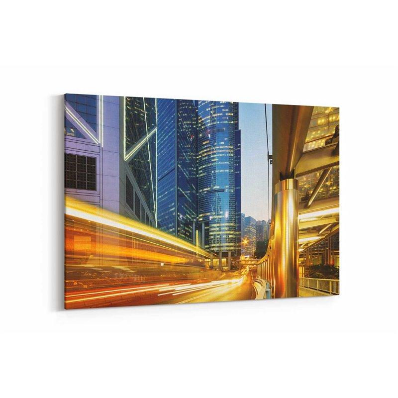 Hong Kong Trafik Kanvas Tablo