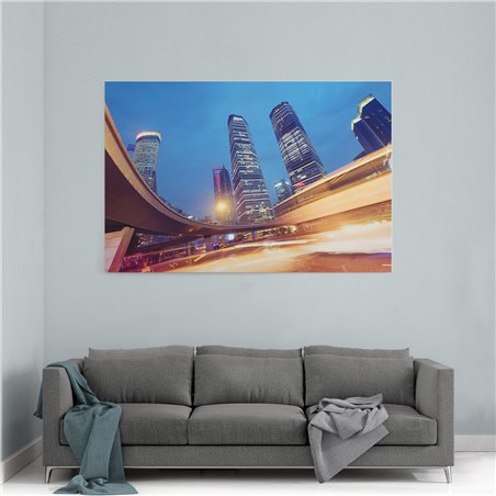 Hong Kong Köprü Kanvas Tablo