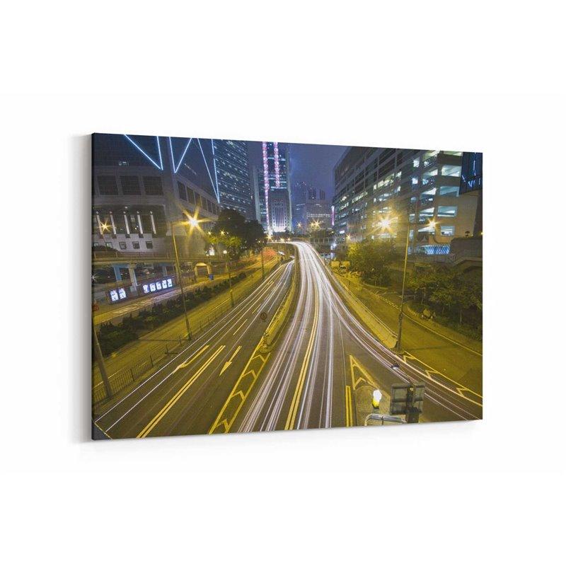 Hong Kong Gecesi Kanvas Tablo