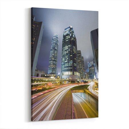 Gecelerin Şehri Hong Kong Kanvas Tablo