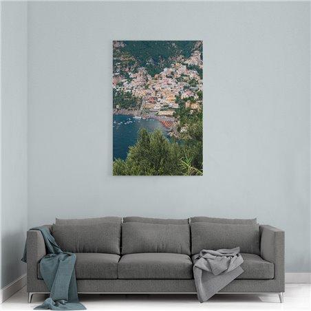 Amalfi Kuşbakışı Kanvas Tablo
