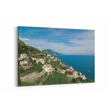 Yeşil Amalfi Kanvas Tablo
