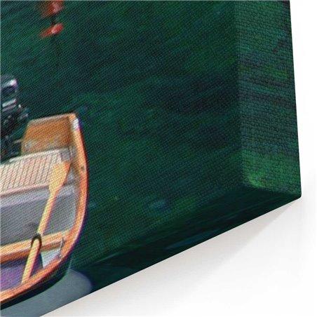 Cinque Terre ve Tekneler Kanvas Tablo